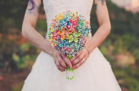 19 Alternative Wedding Bouquet Ideas That Don't Even Involve Flowers