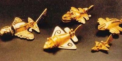 The gold of the inca tribe is an airplane