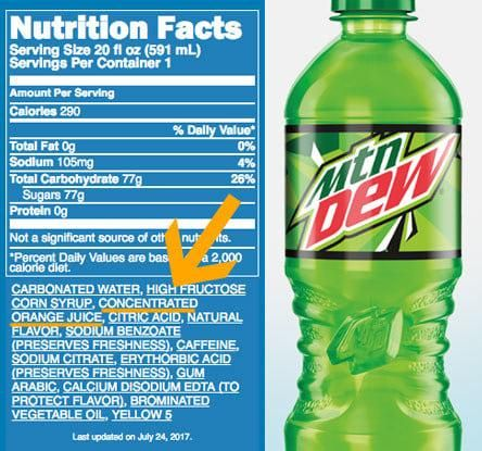Mountain Dew is mainly just orange juice