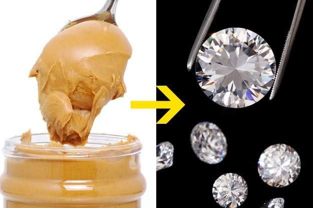 Scientists can turn peanut butter into diamonds