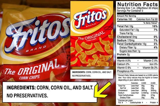Fritos only have three ingredients