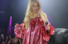 Cardi B Hides Figure In Voluminous Frilly Dress Amid Pregnancy Rumours