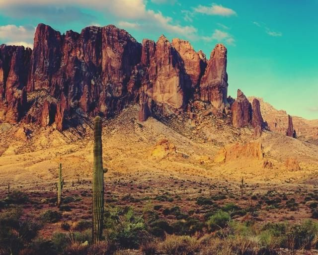 The Superstition Mountains In Phoenix Arizona