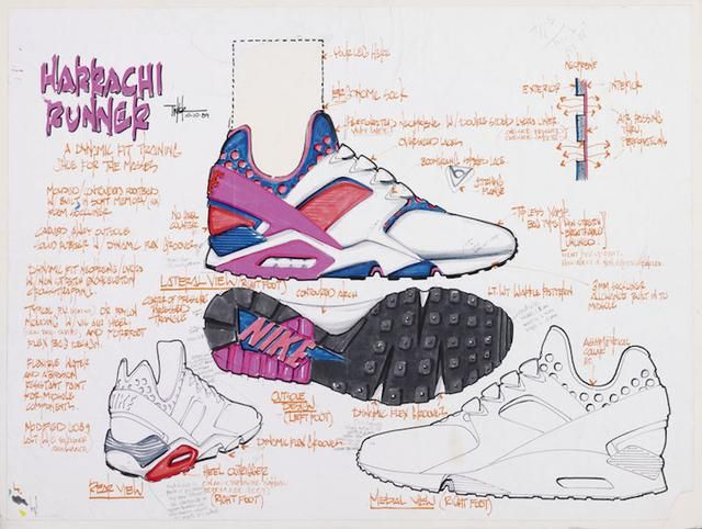 on sale 9d996 27563 The original drawings from Tinker Hatfield show just how crazy the design  was at the time