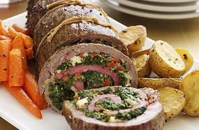 Grilled Stuffed Flank Steak With Roasted Chilies And Pepper Jack Cheese Recipe