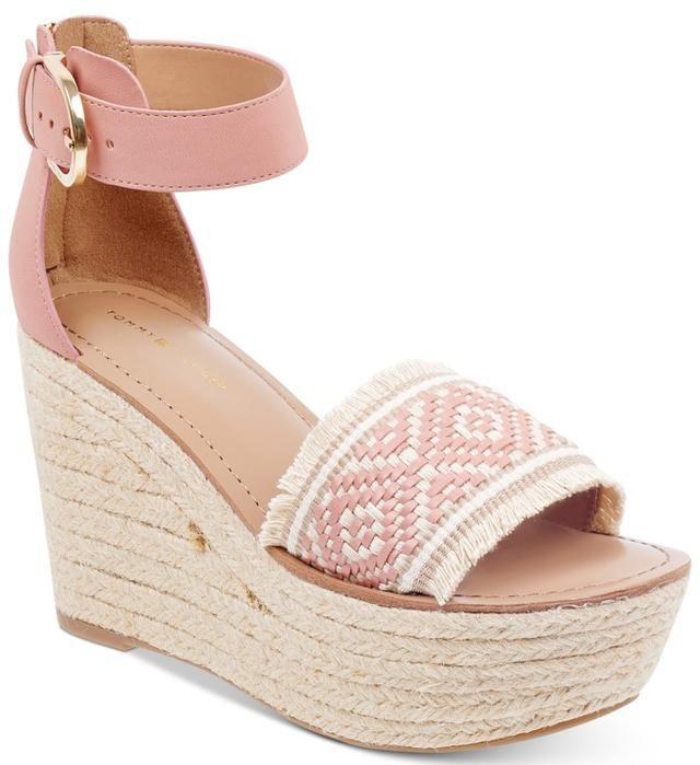 Tommy Hilfiger Terin Platform Wedge Espadrille Sandals