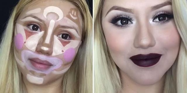 contoured makeup