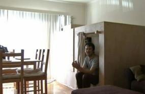 An 8-Foot Bedroom Pod Inside An Apartment