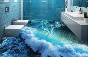 Modern Design Of The Bathroom: 3D Floor