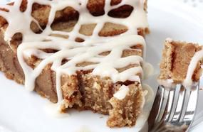 Giant Cinnamon Roll Cookie Cake
