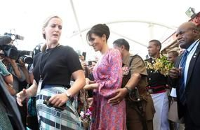 'Concerned' Meghan Markle Whispers To Aide Moments Before Being Rushed Away From Market Due To 'Security Issue'