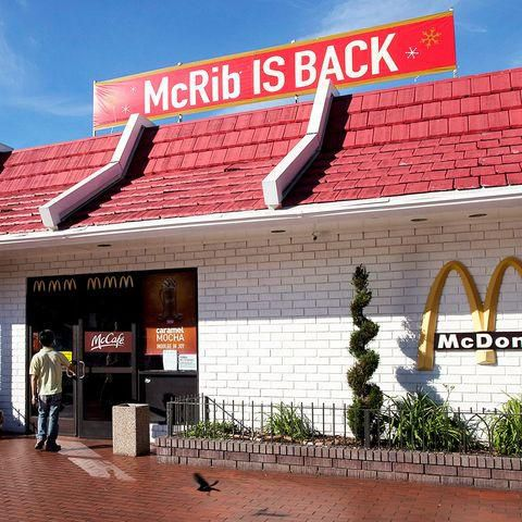 The McRib Is Back at McDonald's. Here's What the Sandwich is Made Of