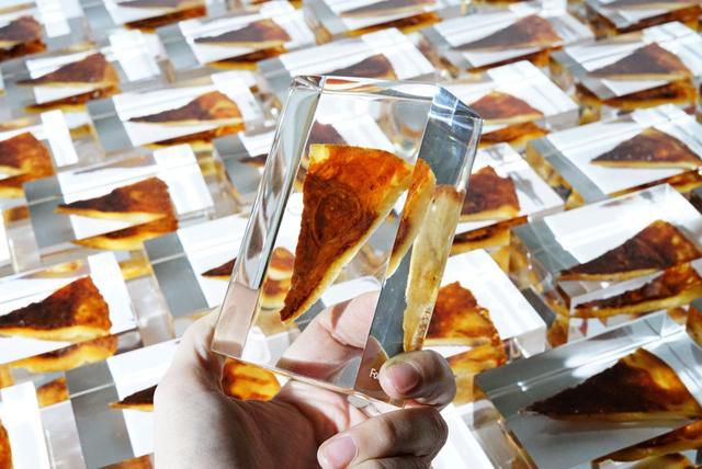 Pizza Slices Encased In Resin Are For Looking, Not Eating