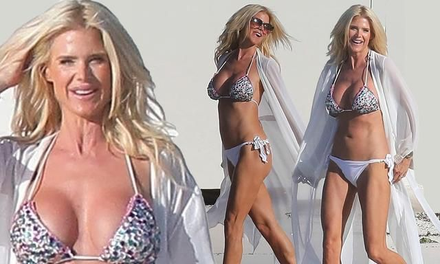 Victoria Silvstedt Is Every-Inch The Bikini Babe As She Dons Glitzy Two-Piece While On Caribbean Break