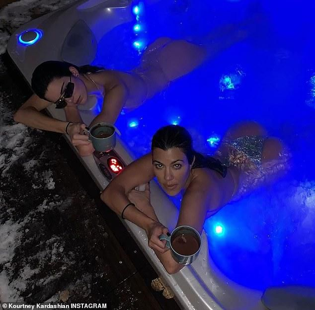 Kendall Jenner Hot Tubs With Sister Kourtney... After The Model's Big 'Announcement' Enrages Fans