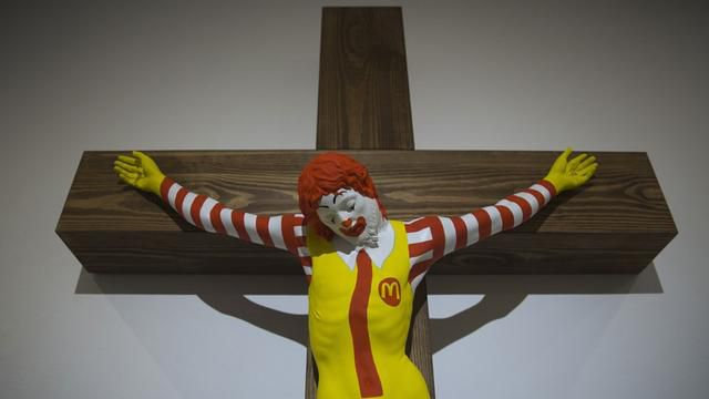 Arab Christians Protest 'McJesus' Sculpture In Israel