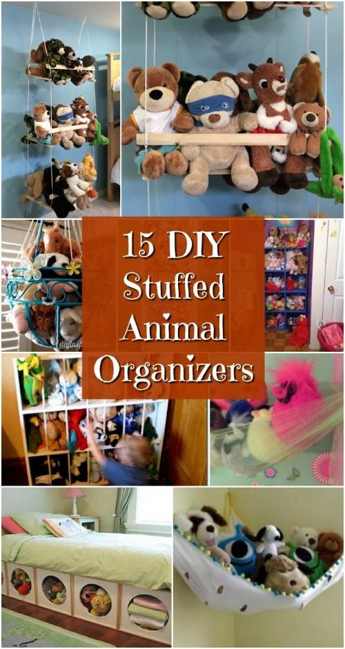 Creatively Simple DIY Stuffed Animal Organizers For Kids' Rooms