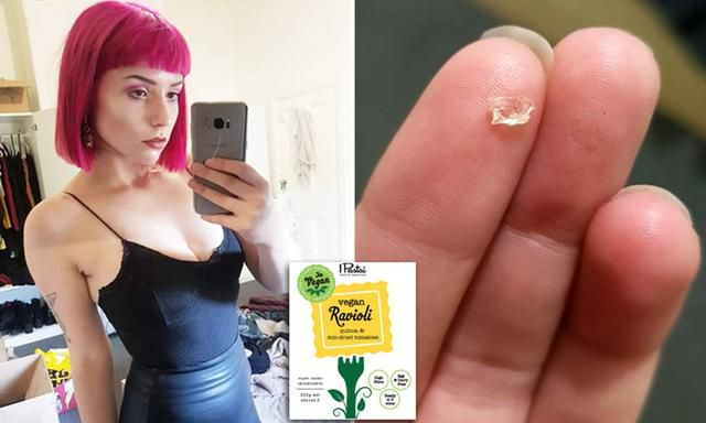 'The Pain Was So Intense': Vegan Suffers Agonising Internal Bleeding After Eating Glass 'Embedded In Her Quinoa Ravioli'