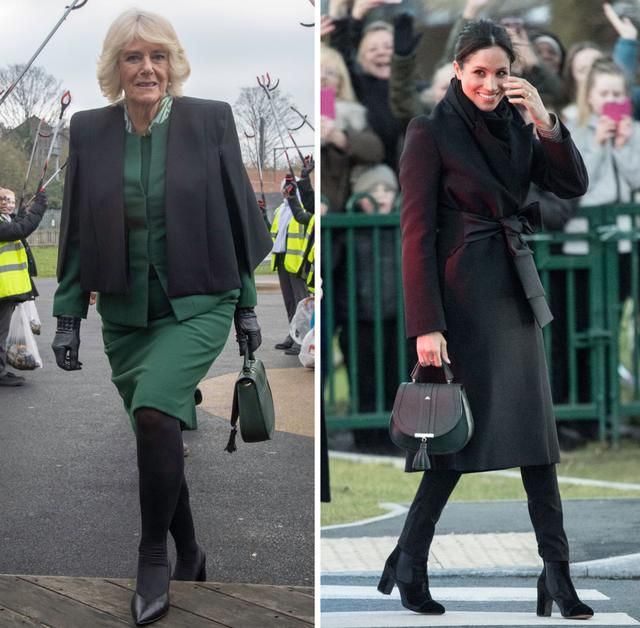 Camilla, Duchess Of Cornwall Copies Meghan Markle's Style During Latest Outing