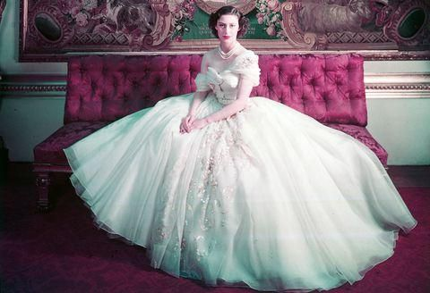 Princess Margaret's Iconic 21st Birthday Gown Goes On Display At The V&A's Dior Exhibition