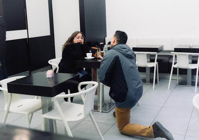 How A Groom-To-Be Proposed To His Fiancée With A Cup Of Coffee