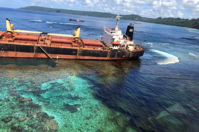 Owner's 'Deep Remorse' Over Ship Stuck On Pacific Reef