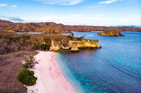 Pink Beach of Komodo, Indonesia