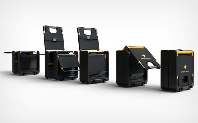 This Tiny Box Instantly Transforms Into An Emergency Wheelchair/Stretcher When Needed