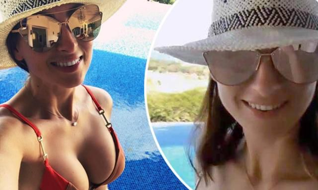 Luisa Zissman Sizzles In Tiny Orange Geometric Bikini As She Soaks Up The Sun On Barbados Break
