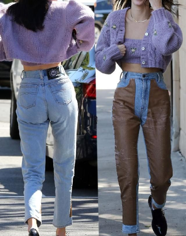 Kendall Jenner Wears Tight Leather Pants That Show Off Intimate Area