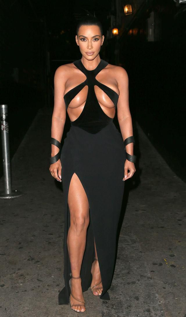 Kim Kardashian Wasn't Nervous About Wearing The Iconic Nearly-Naked Mugler Gown