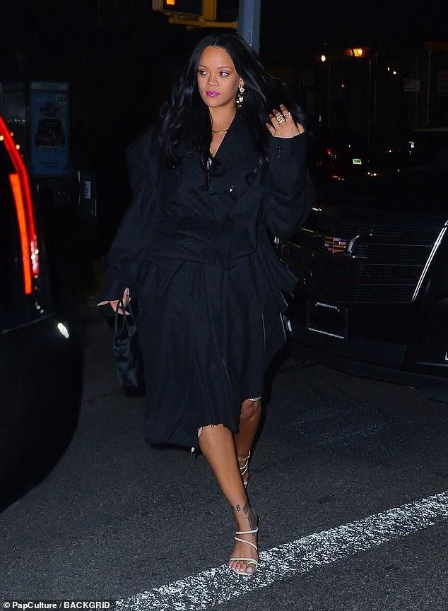 Rihanna Flashes Her Legs For Date Night With Boyfriend Hassan Jameel In NYC