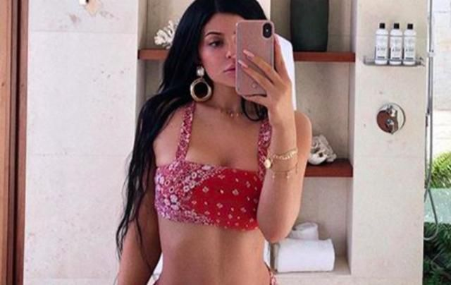 Kylie Jenner's Red Bandana Bikini Is The Literal Definition Of Fire