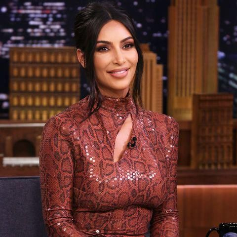 Kim Kardashian's Teeny-Tiny Snakeskin Two-Piece Is So Kim It Hurts