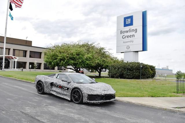 2020 Chevy Corvette poses at Bowling Green plant, where GM is adding jobs