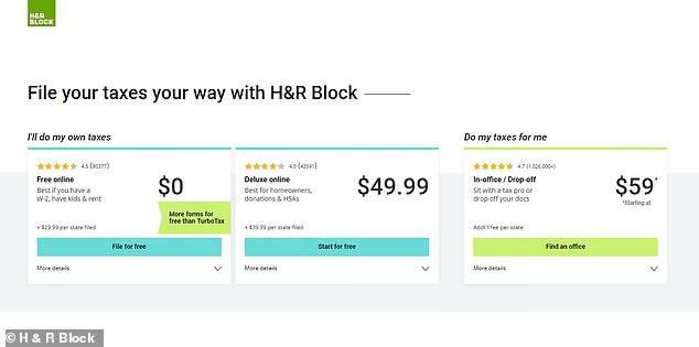 TurboTax and H&R Block hid free filing option from Google and forced low-income workers to pay for the service