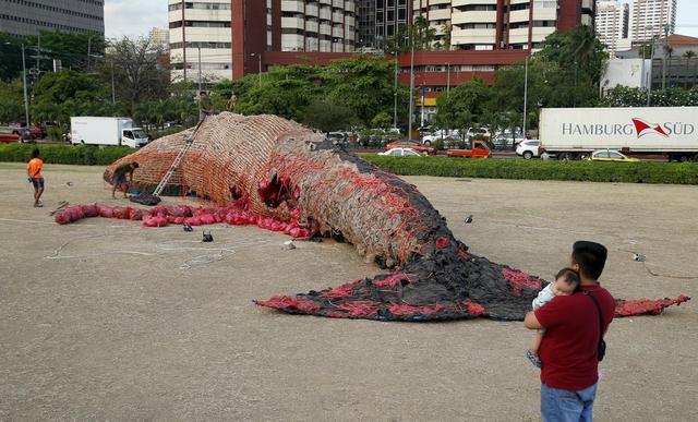 This Grisly 'Dead Whale' Sculpture Is A Tough Lesson About Ocean Plastics