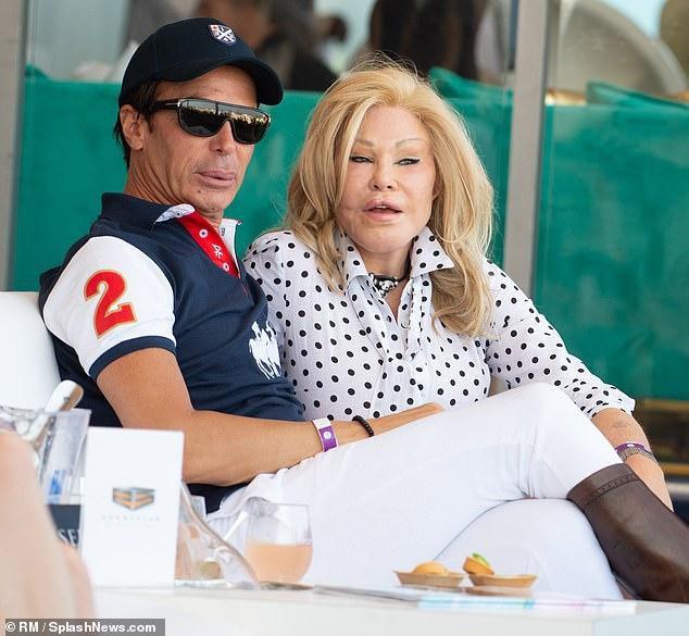 Jocelyn Wildenstein and her fiance Lloyd Klein look close in Miami