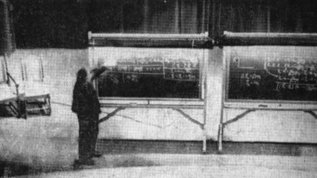 The Only Known Photo of Albert Einstein With His Energy-Mass Equation, 1934