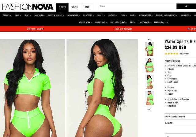 Fashion Nova swimwear comes with label warning ingredients can cause cancer and birth defects