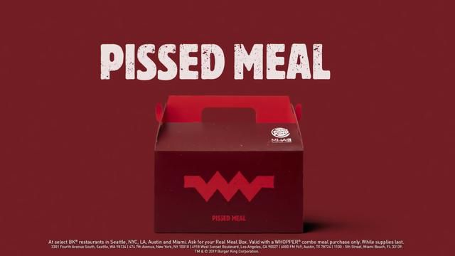 Burger King cooks up 'Pissed Meal' to take jab at McDonald's — and promote mental health awareness