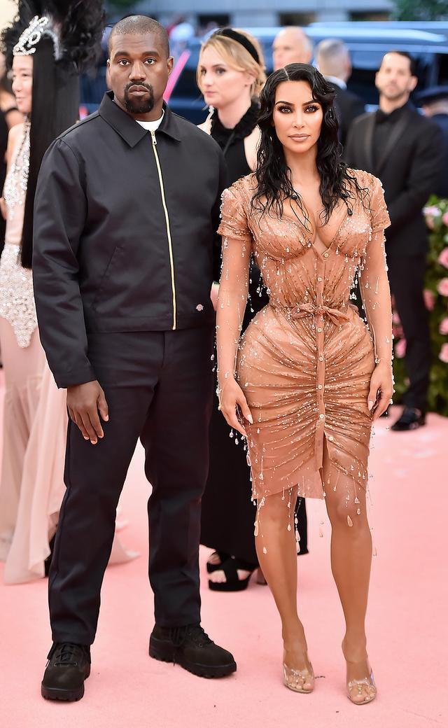 Kanye West Wears $40 Jacket on Met Gala Red Carpet as Wife Kim Kardashian Slays in Custom Couture