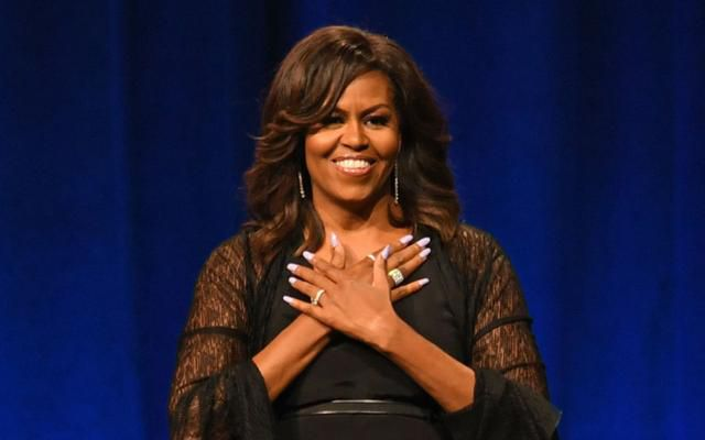 Michelle Obama Makes Waves in Chic Jumpsuit With Strappy Black Sandals for Latest Book Tour Stop