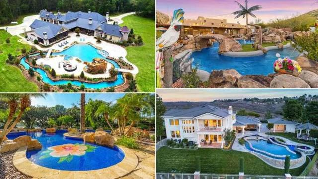 Float Away Any Summertime Blues: 7 Homes With Lavish Lazy River Pools