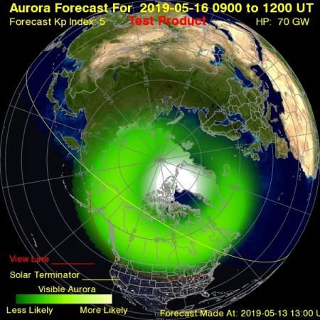 Geomagnetic Storm Headed for Earth Could Mean Auroras Will Be Visible over Parts of U.S.