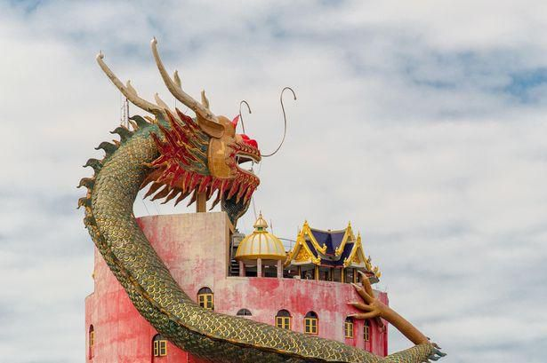 Giant dragon guards temple in Thailand - but it has another hidden purpose