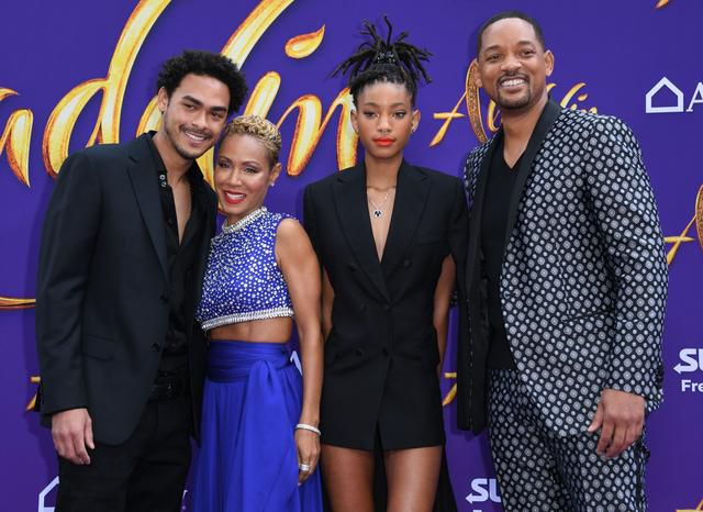 Will Smith's Entire Family Joins Him at the Aladdin Premiere - and Jada Dressed as the Genie!