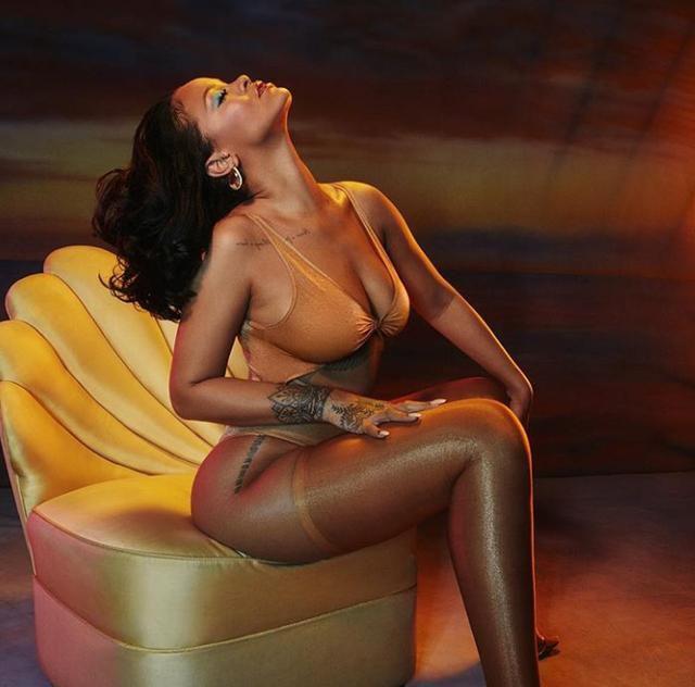 Rihanna Show Off Skin on Instagram for New Lingerie Line