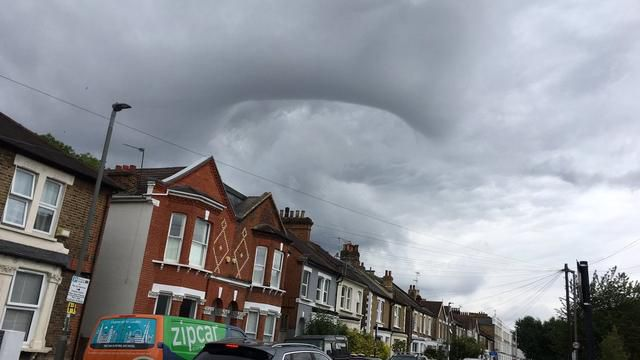 Rare 'black hole' cloud spotted over London