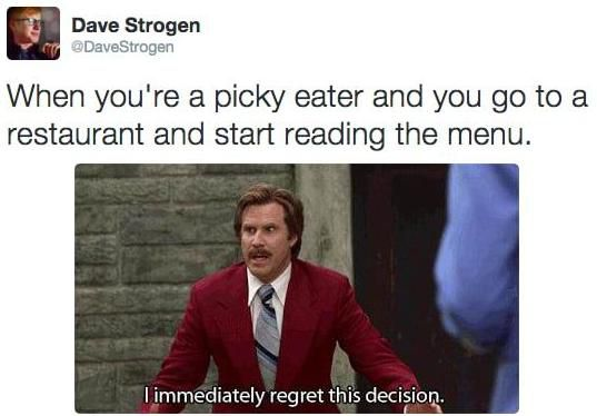 Memes That Will Only Be Funny If You're a Picky Eater